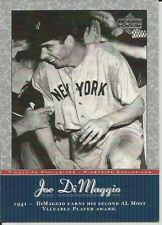 Joe DiMaggio 2001 Upper Deck Pinstripe Exclusives Yankees #JD24 NM
