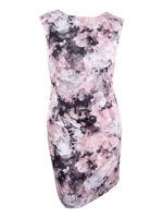 Tahari Women's Plus Size Floral-Print Scuba Sheath Dress (22W, Pink/Grey)