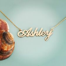 Personalized Name Necklace 14k Solid Gold
