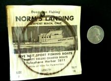 Vintage Norms Landing Newport Beach Ca Deep Sea Sport Fishing Hook/Leader In Pkg