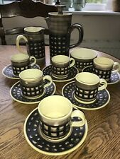 Vintage Iden Pottery Rye Sussex Coffee Set