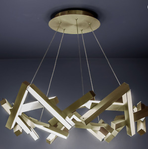 Chaos Chandelier Ceiling Light Modern Forms PD-64834-AB LED 34 inch Aged Brass