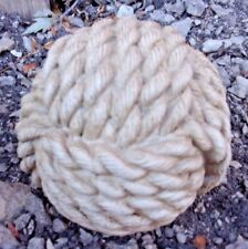 "Latex rope garden ball mold 4""W x 3.5""H"