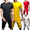 Mens Summer Tracksuit Sport Suit Exercise Short Sleeve T-shirt Shorts Pants Sets
