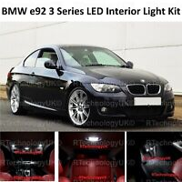 PREMIUM BMW 3 SERIES E92 INTERIOR PURE WHITE FULL UPGRADE LED LIGHT BULBS KIT