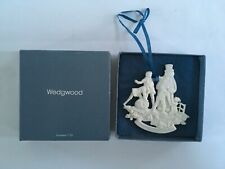 Rare Wedgwood Snowman Family Christmas Tree Ornament with Box Euc