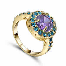 Trendy (purple)Amethyst Size 7 10kt yellow gold filled Women's Wedding Ring