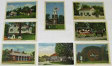 1940's 1950's GREENFIELD VILLAGE Postcard Lot ~ 8 Postcards ~ Dearborn, Michigan