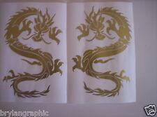 Mirror Image Of 20 cm Dragon # 1  Vinyl car,truck, ute decal - Choose colour