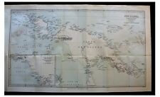 1884 UNEXPLORED PAPUA NEW GUINEA - Head-Hunting - SLAVERY - Early Color Map - 4