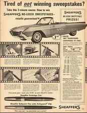 1962 vintage ad, Sheaffer Pen Sweepstakes, 'WIN A '63 Thunderbird!  -121512