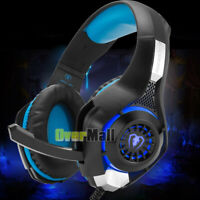 Pro Gaming Headset Mic LED Headphones Stereo Surround FOR PC PS4 Xbox ONE 360E