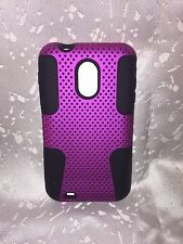 Hard Soft Combo Purple Black Mesh Case Cover For Samsung Galaxy S2 II D710/R760
