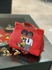 Gabbana Miss Sicily MediumBAG WITH DG FAMILY PATCH NWT Authentic Red
