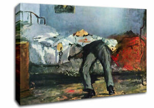Manet Suicide Art Classic 02756 Canvas Print Wall Art