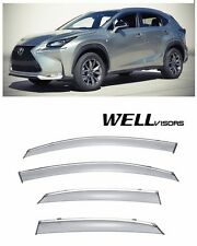 For 15-UP Lexus NX200t NX300h WellVisors Side Window Visors W/ Chrome Trim