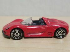 Hot Wheels Porsche 918 Spyder Red Hybrid Plug-in 1:64 Diecast Convertible Car