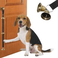 Adjustable Door Bells for Dog Potty Training Housebreaking Housetraining Black