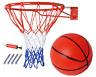 Basketballkorb Metallring mit Netz & Ball & Pumpe Set & Wand Montiert Schrauben