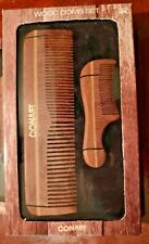 Conair ~  Wood Comb Set ~ Hair & mustache ~ Free Shipping