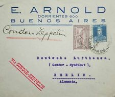 O) 1931 ARGENTINA, VIA CONDOR ZEPPELIN - ANNIVERSARY REVOLUTION OVERPRINT ON SCO