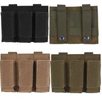 Taktische Molle Top Open Triple Pistol Magazintasche Mag Bag Bullet Holder