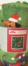 Dog Show Puppy Blanket Throw Plush Christmas Theme