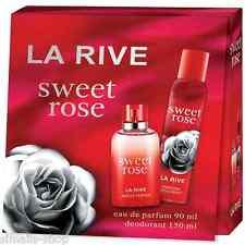 LA RIVE SWEET ROSE GESCHENK SET BOX DAMEN EAU DE PARFUM 90 ML + 150 ML DEO