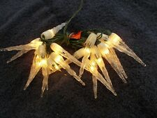 vintage icicle Christmas lights 20 lite string