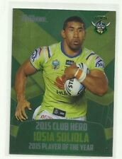 2016 NRL TRADERS CLUB HERO CANBERRA RAIDERS IOSIA SOLIOLA CH3 CARD