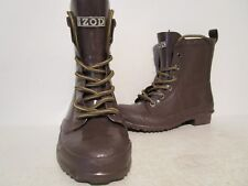 IZOD Womens Rain Boots Rubber Brown Size 6