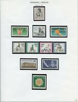GERMANY BERLIN  SELECTION OF MOSTLY 1985  MINT NEVER HINGED AS SHOWN