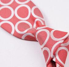 NWT $265 BATTISTI NAPOLI Hidden Pocket Silk Tie Medium Red Ring Pattern