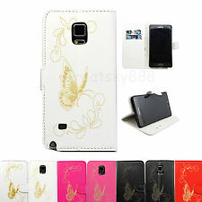 Stand Butterfly Design Flip Leather Wallet Hard Cover Case For Many Phone Models