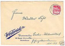 Bedarfspost, Mi.-Nr. BRD 85 eg, Fa. Wiedersich & Co., o (16) Kassel 7, 5.4.50