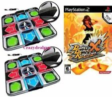Playstation 2 PS2 Dance Revolution DDR X  + 2pcs Deluxe Foam Dance Pad Mats V2
