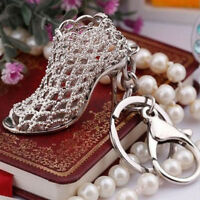 Creative Hollow High Heel Shoe Key Ring Personality Bag Ornaments Key Chain Gift
