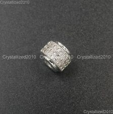 Zircon Gemstone Pave 3 Rows Rondelle 6x7mm Spacer Bracelet Connector Charm Beads