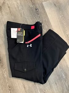 Under Armour Storm 3M Size Youth Small Insulated Snow Ski Pants Black Hot Pink
