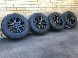 Ford Ranger Wildtrak Genuine 18 inch wheels Custom and Brand new A/T Tyres
