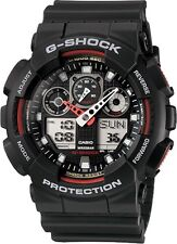 Brand New Casio G-Shock GA100-1A4 Red/Black Men's Watch Ana-Digi NWT!!!
