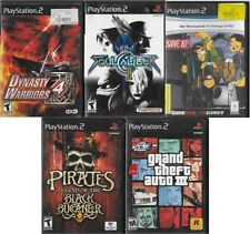 PS2 Lot Dynasty Warriors 4, Soul Calibur 2, GTA 3, Star Wars 3, Black Buccaneer