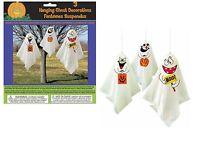 3 Haunted Halloween Hanging Ghost Spooks Party Decoration Indoor Outdoor