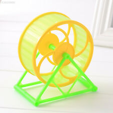 Wheel Toy Play With holder Plastic Pet Rodent Hamster Exercise Spinner Toy