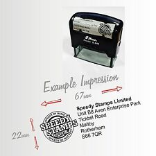 Shiny S-845 - Custom Self Inking Rubber Stamp - Up To 6 Lines of Text & logo