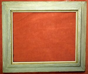 Vintage Brutalist Picture Frame16x20 Chalky Gray White Abstract Painting Modern