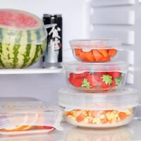 6/3pcs Stretch Silicone Food Bowl Cover Storage Wraps Seals Reusable Lids Gifts
