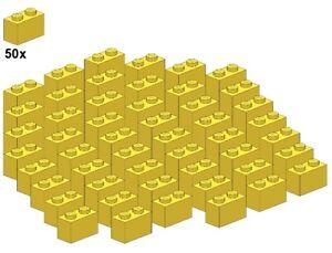 Used LEGO® - Bricks - Yellow - 3004-03 - 1x2 (50Stk) - Stein - Gelb