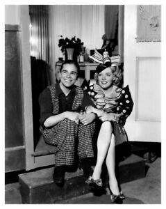ALICE FAYE  IN COSTUME ON MOVIE SET ON THE AVENUE