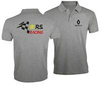 Renault Racing RS Ventilateur Club Sport Voiture Brodé Homme Chemise Polo Top
